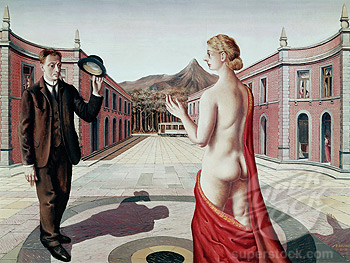 the greeting /le Salut/1938/paul delvaux